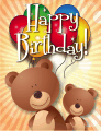 Bear Small Birthday Card