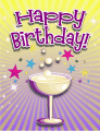 Champagne Glass Small Birthday Card