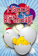 Chicks Birthday Card