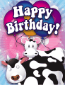 Cows Small Birthday Card