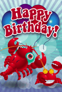 Crabs Birthday Card