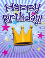 Crown Small Birthday Card