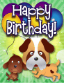 Dogs Small Birthday Card