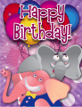 Elephant Small Birthday Card
