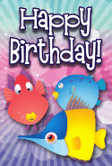 Fish Assorted Birthday Card