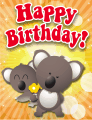 Koalas Small Birthday Card
