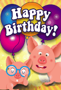 Little Pigs Birthday Card