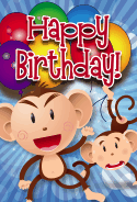 Monkeys Birthday Card