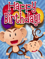 Monkeys Small Birthday Card