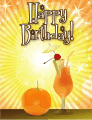 Orange Cocktail Small Birthday Card