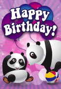 Pandas Birthday Card