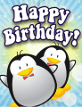 Penguins Small Birthday Card