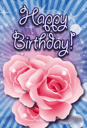 Roses Birthday Card