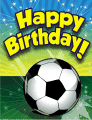 Soccer Small Birthday Card
