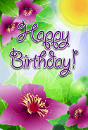 Spring Flowers Birthday Card