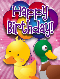 Baby Ducks Small Birthday Card
