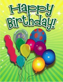 Balloons Small Birthday Card