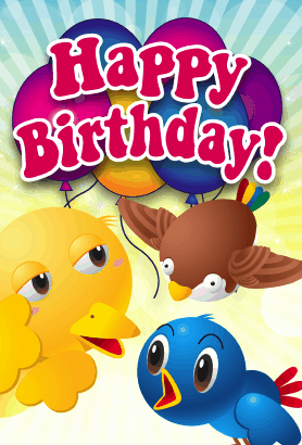 Birds Birthday Card