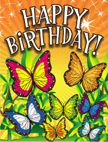 Butterflies Small Birthday Card