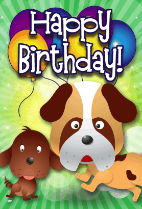 picture regarding Dog Birthday Cards Printable Free known as Printable Birthday Playing cards