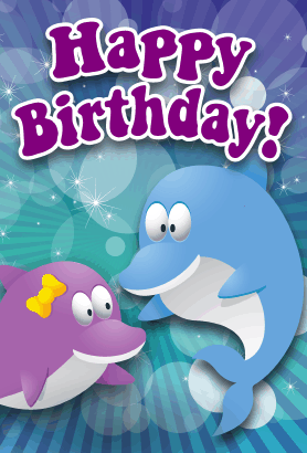 Dolphins Birthday Card