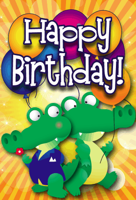 Gators Birthday Card