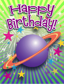 Planet Small Birthday Card
