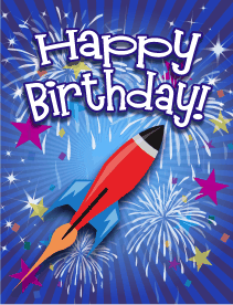 Rocket Small Birthday Card