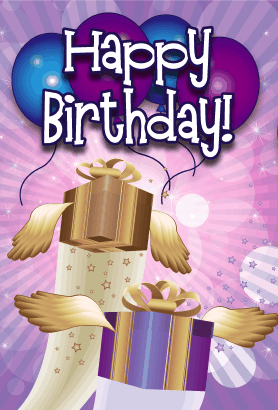 Soaring Presents Birthday Card